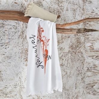 Набор кухонных полотенец 45*65 2 шт. Ecocotton CARROT органический хлопок белый+бежевый