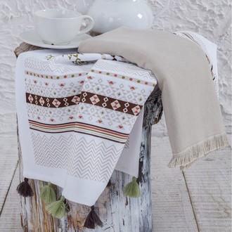 Набор кухонных полотенец 45*65(2) Ecocotton ESNA органический хлопок (белый+бежевый)