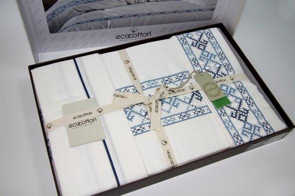 Постельное белье Ecocotton HAREM органический хлопковый сатин делюкс кремовый евро, фото, фотография