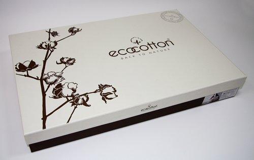 Постельное белье Ecocotton FOLIA органический хлопковый сатин-жаккард делюкс зелёный евро-макси, фото, фотография