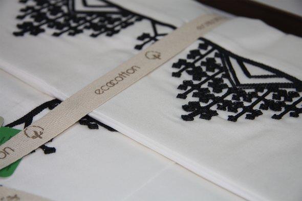 Постельное белье Ecocotton SAHRA органический хлопковый сатин делюкс кремовый евро-макси, фото, фотография