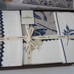 Постельное белье Ecocotton RITA органический хлопковый сатин делюкс + лён кремовый евро, фото, фотография