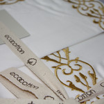Постельное белье Ecocotton SEHZADE органический хлопковый сатин делюкс кремовый евро-макси, фото, фотография