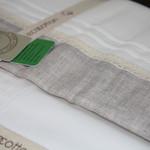 Постельное белье Ecocotton PATARA органический хлопковый сатин делюкс + лён кремовый евро-макси, фото, фотография