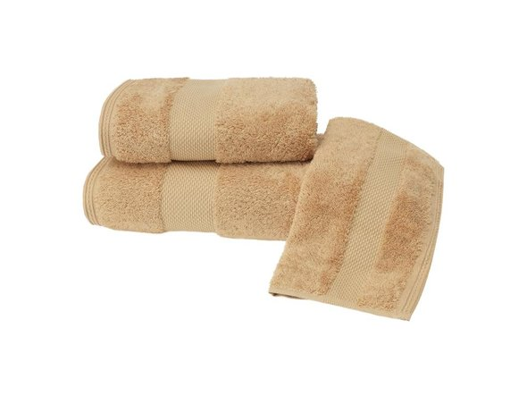 Полотенце для ванной Soft Cotton DELUXE махра хлопок/модал (горчичный) 50*100, фото, фотография