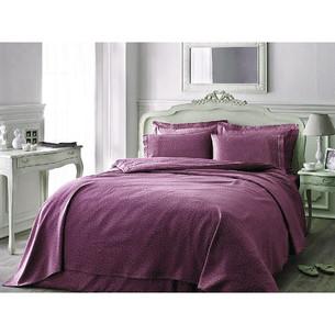 Постельное белье Tivolyo Home PUNTO хлопковый люкс-сатин фиолетовый 1,5 спальный