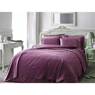 Постельное белье Tivolyo Home PUNTO хлопковый люкс-сатин фиолетовый
