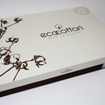 Постельное белье Ecocotton HANZADE органический хлопковый сатин делюкс + лён кремовый евро, фото, фотография