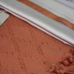 Постельное белье с покрывалом пике для укрывания Ecocotton BALERA органический хлопок терракотовый евро, фото, фотография