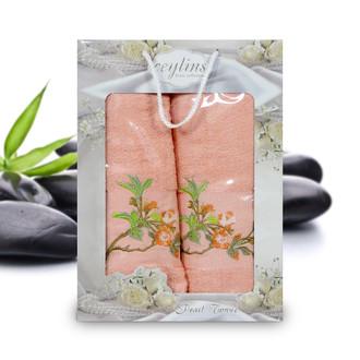 Подарочный набор полотенец для ванной Ceylins PEARL TOWEL хлопковая махра (V4)