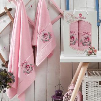 Подарочный набор полотенец для ванной Merzuka ROSE хлопковая махра (V2)