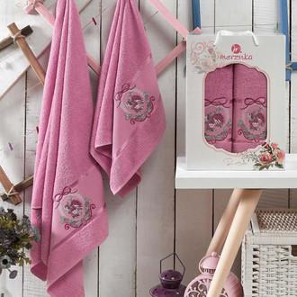 Подарочный набор полотенец для ванной Merzuka ROSE хлопковая махра (V8)