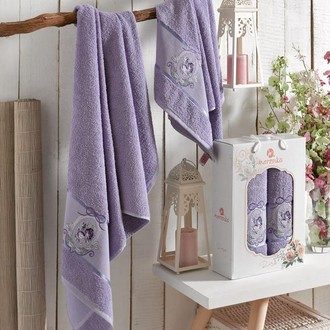 Подарочный набор полотенец для ванной Merzuka ROSE хлопковая махра (V7)