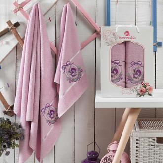 Подарочный набор полотенец для ванной Merzuka ROSE хлопковая махра (V4)