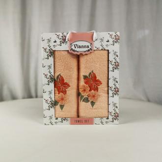 Подарочный набор полотенец для ванной Vianna LUXURY SERIES 8363 хлопковая махра V13