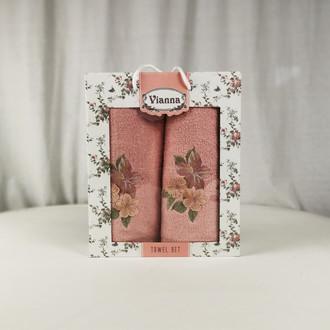 Подарочный набор полотенец для ванной Vianna LUXURY SERIES 8363 хлопковая махра V15