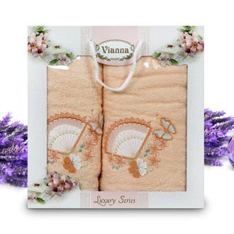 Подарочный набор полотенец для ванной Vianna LUXURY SERIES 8060 хлопковая махра (V4)