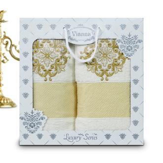Подарочный набор полотенец для ванной Vianna LUXURY SERIES 8049 хлопковая махра (V1)