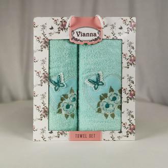Подарочный набор полотенец для ванной Vianna LUXURY SERIES 8363 хлопковая махра V2