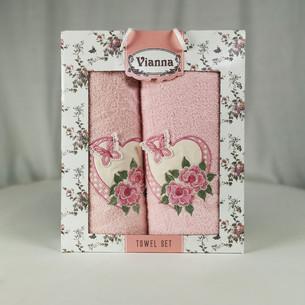 Подарочный набор полотенец для ванной Vianna LUXURY SERIES 8363 хлопковая махра V4
