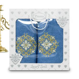 Подарочный набор полотенец для ванной Vianna LUXURY SERIES 8049 хлопковая махра V2