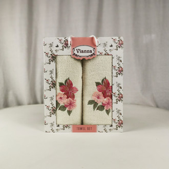 Подарочный набор полотенец для ванной Vianna LUXURY SERIES 8363 хлопковая махра V9