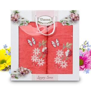 Подарочный набор полотенец для ванной Vianna LUXURY SERIES 8014 хлопковая махра V11