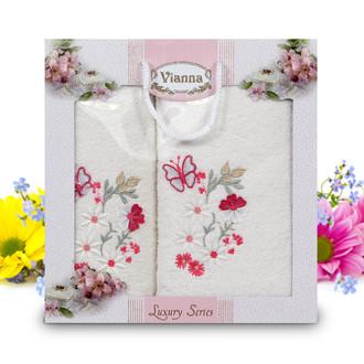 Подарочный набор полотенец для ванной Vianna LUXURY SERIES 8014 хлопковая махра (V10)