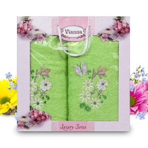 Подарочный набор полотенец для ванной Vianna LUXURY SERIES 8014 хлопковая махра V9