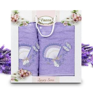 Подарочный набор полотенец для ванной Vianna LUXURY SERIES 8060 хлопковая махра V5