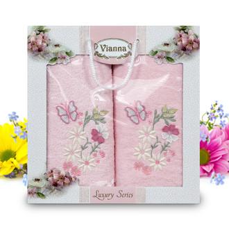Подарочный набор полотенец для ванной Vianna LUXURY SERIES 8014 хлопковая махра (V5)