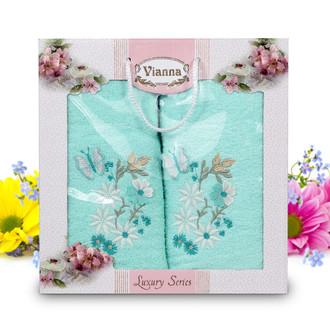 Подарочный набор полотенец для ванной Vianna LUXURY SERIES 8014 хлопковая махра (V3)