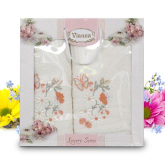 Подарочный набор полотенец для ванной Vianna LUXURY SERIES 8014 хлопковая махра (V1)