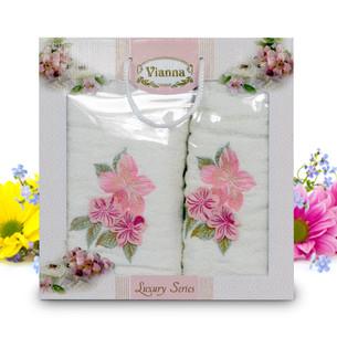 Подарочный набор полотенец для ванной Vianna LUXURY SERIES 8041 хлопковая махра V7