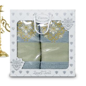 Подарочный набор полотенец для ванной Vianna LUXURY SERIES 8049 хлопковая махра (V3)