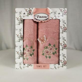 Подарочный набор полотенец для ванной Vianna LUXURY SERIES 8363 хлопковая махра V7