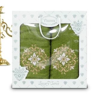 Подарочный набор полотенец для ванной Vianna LUXURY SERIES 8049 хлопковая махра V4
