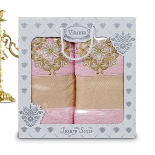 Подарочный набор полотенец для ванной Vianna LUXURY SERIES 8049 хлопковая махра V5