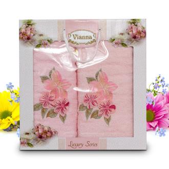 Подарочный набор полотенец для ванной Vianna LUXURY SERIES 8041 хлопковая махра (V1)