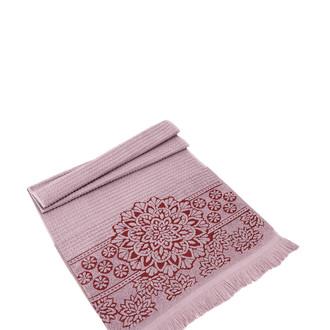 Полотенце для ванной Karna DURU хлопковая махра (грязно-розовый)
