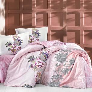 Постельное белье Altinbasak NEON ESMERALDA хлопковый ранфорс розовый 1,5 спальный