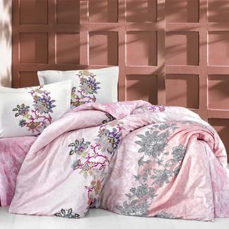 Постельное белье Altinbasak NEON ESMERALDA хлопковый ранфорс розовый