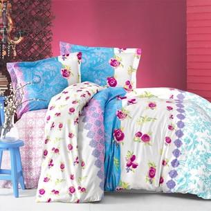 Постельное белье Altinbasak NEON LORANCE хлопковый ранфорс голубой 1,5 спальный