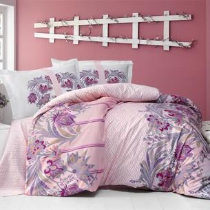 Постельное белье Altinbasak NEON SELVA хлопковый ранфорс розовый 1,5 спальный