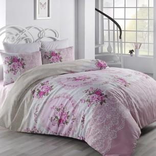 Постельное белье Altinbasak ARVEN хлопковый ранфорс розовый евро