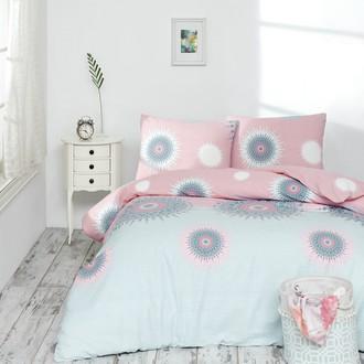 Постельное белье Altinbasak ORLEON хлопковый ранфорс розовый