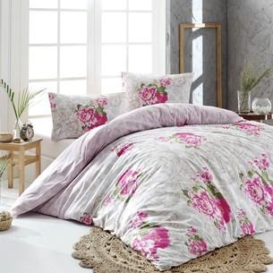 Постельное белье Altinbasak LUCCA хлопковый ранфорс розовый 1,5 спальный