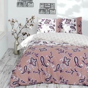 Постельное белье Altinbasak LAVINDA хлопковый ранфорс красный 1,5 спальный