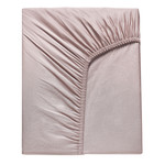 Простынь на резинке Karna LOFT хлопковый сатин грязно-розовый 160х240+30, фото, фотография