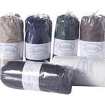 Простынь на резинке Karna LOFT хлопковый сатин тёмно-серый 160х240+30, фото, фотография